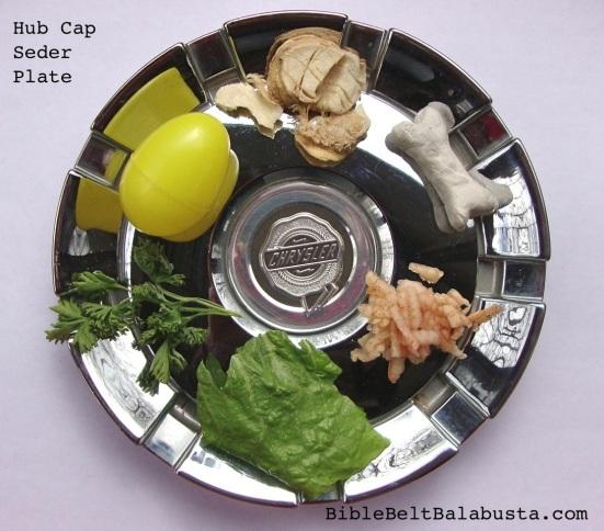 Hub Cap Seder Plate